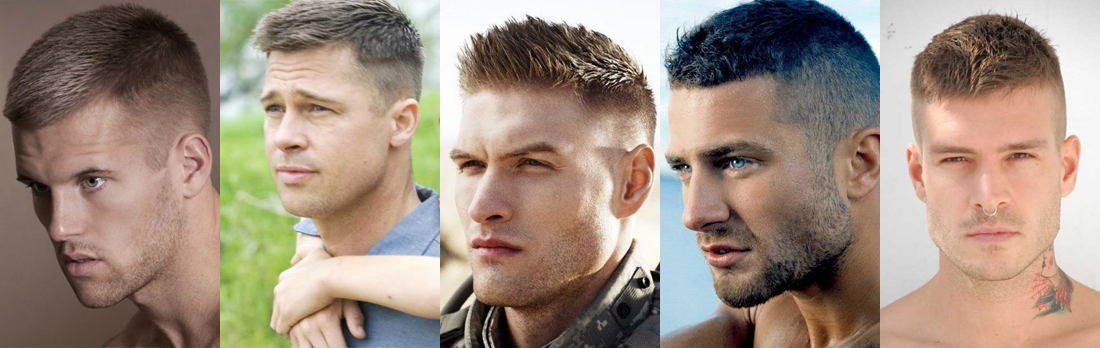 Military haircut style